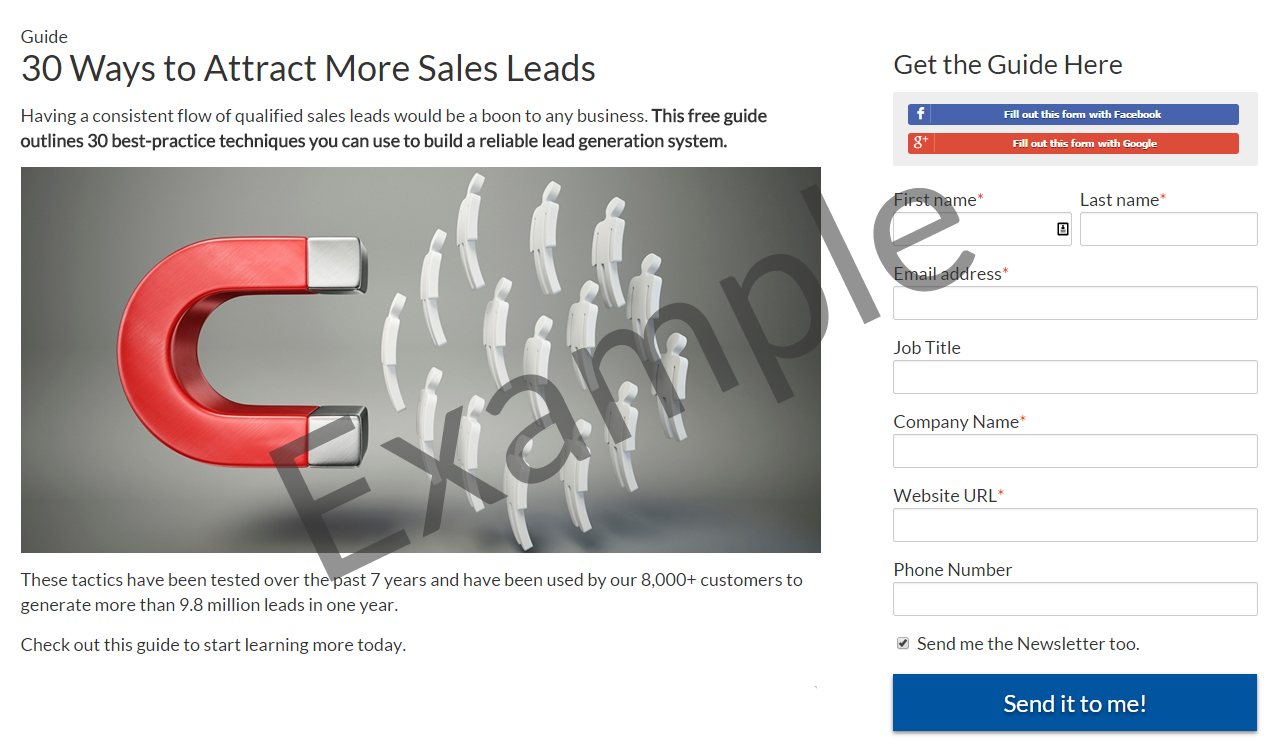 Develop Lead Conversion Pages
